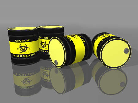 Biohazard barrels photo