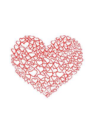 hearts form a big heart photo