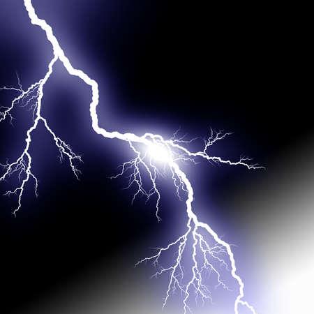 rayo electrico: Aligeramiento Foto de archivo