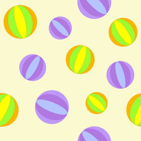 Cure seamless background with balls Vector