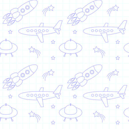 toy plane: Fly background on paper vector