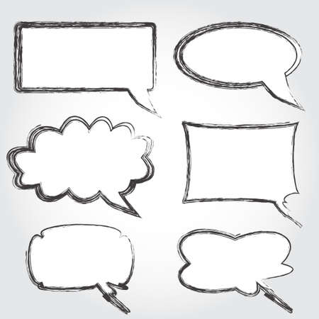 Set of vintage speech bubbles vector Illustration