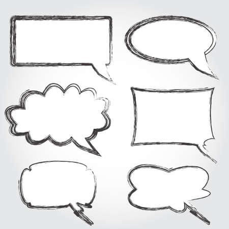Set of vintage speech bubbles vector Illustration