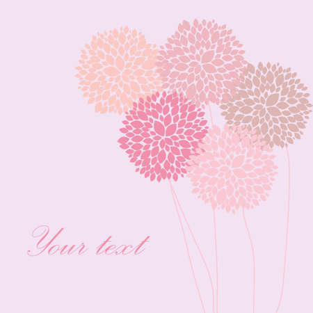 peony: Cute unique floral card