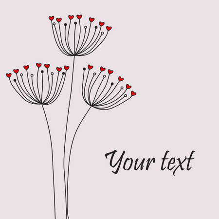 Cute unique floral card Vector