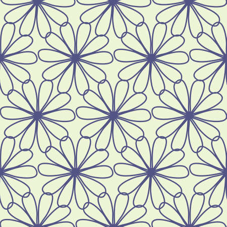 Floral seamless pattern in retro style Vector