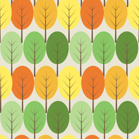 Vector trees seamless pattern Illustration