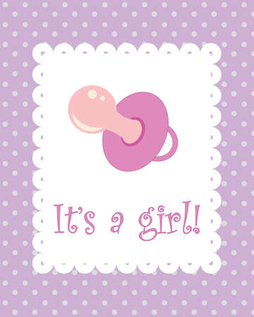 It s a girl card Stock Vector - 13453428