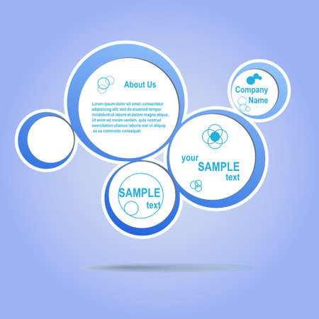 Abstract web design blue bubble eps 10