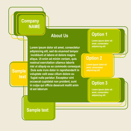 Abstract web site green design Illustration