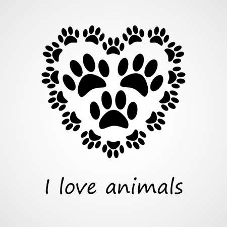 I love animals  eps 10 Vector
