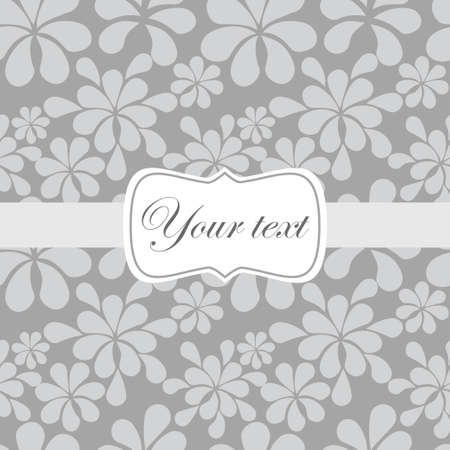 Cute vintage card invitation Vector