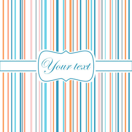 Striped colorful greeting card Vector