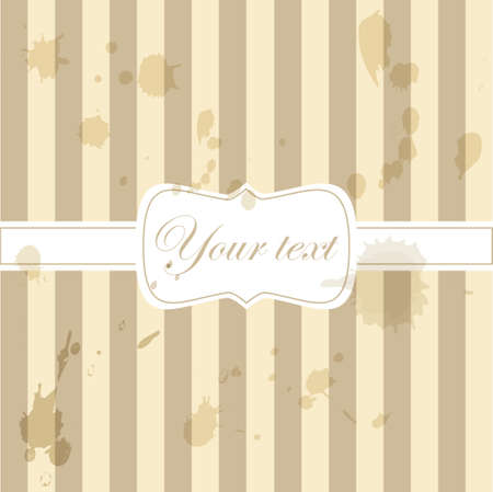 yellowing: Cute aged retro vintage card invitation
