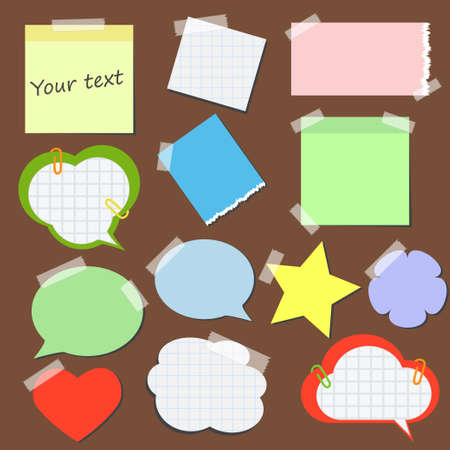 Set of stickers and reminders in different styles Illustration