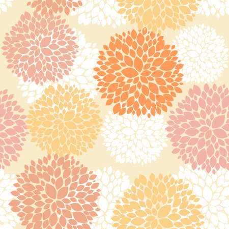 Cute unique floral autumn pattern Vector