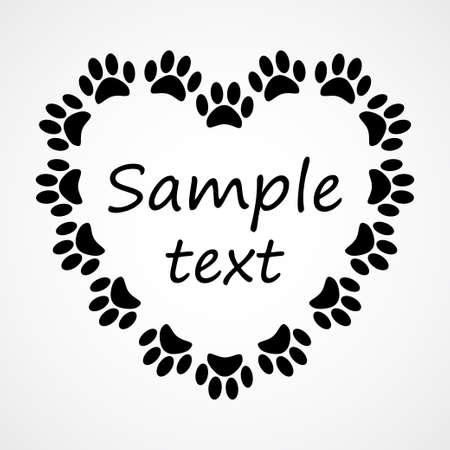 Coeur avec animaux Banque d'images - 20313747