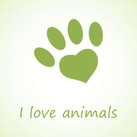 animal foot: Animal foot print in eco style