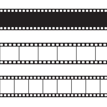 photo equipment: Vector film strip illustration Illustration