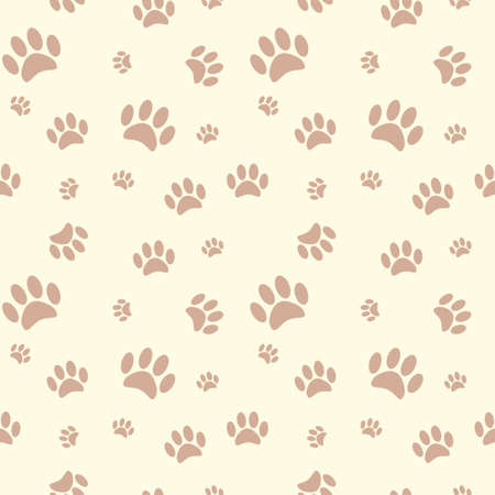 dog track: Background with dog paw print and bone Illustration