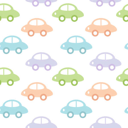 Childish background with cars for baby boy