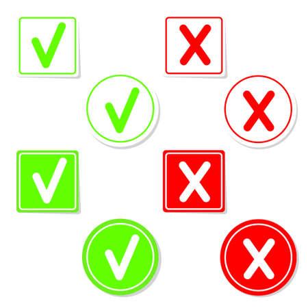 Vector check mark stickers Illustration