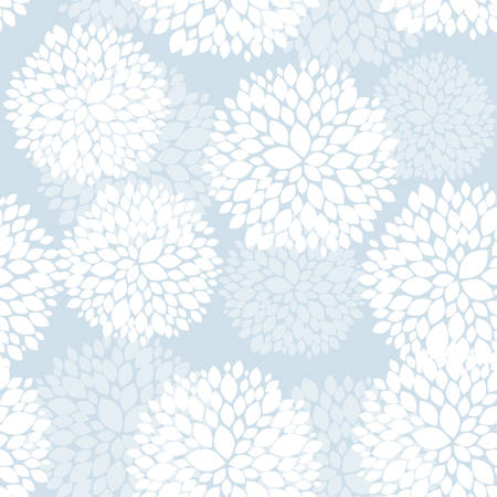 Cute unique floral card in blue and white for winter holidays