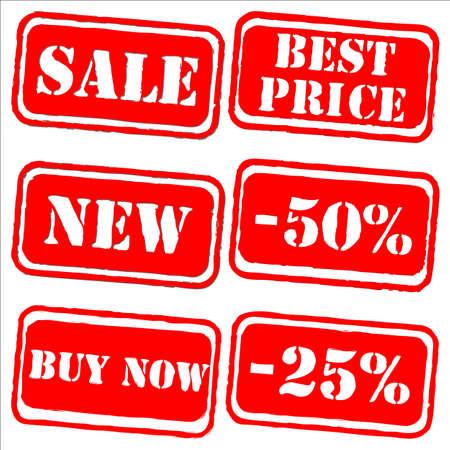 Sale labels stamp vector set Illustration