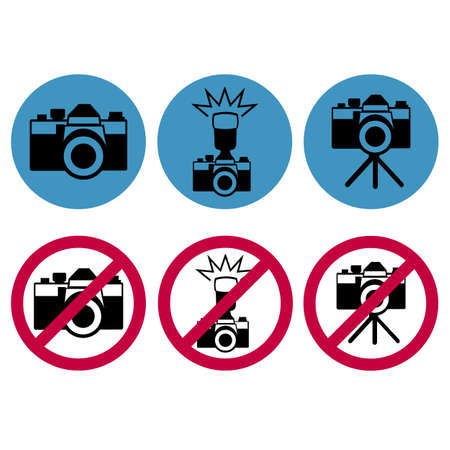 camera round icons Vector