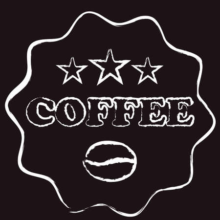 Chalk coffee logo