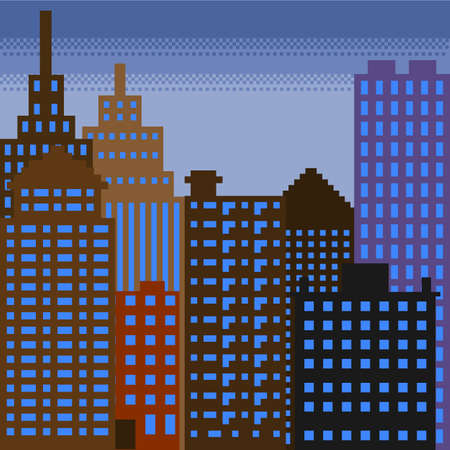 pixel building 3 Vector