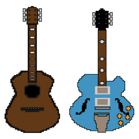 pixel guitar set1 Illustration