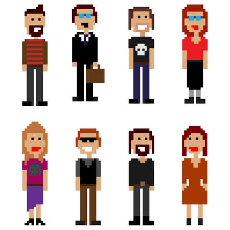 pixel style people