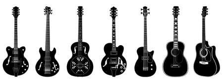 Big vector guitars set Vector Illustration