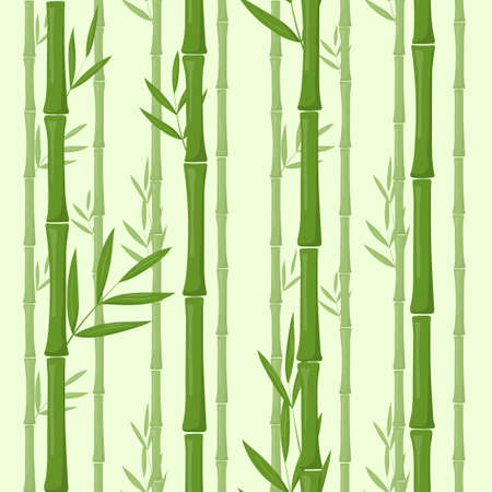 Set of vector bamboo isolated on white Vectores
