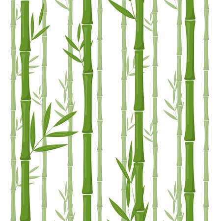 Green bamboo seamless vector pattern background Vectores