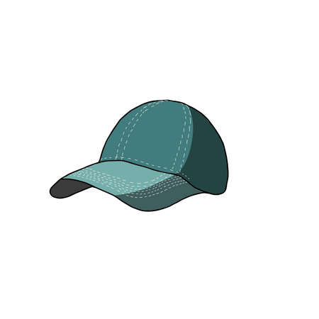 Vector colourfull illustration of a cap. Cartoon style illustration, card, element design.