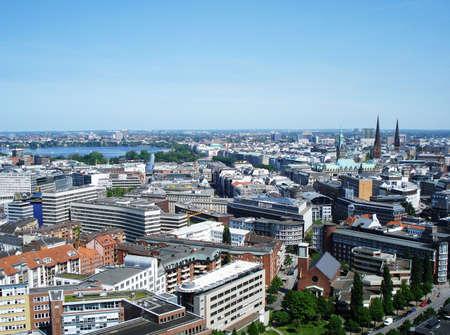 Panorama of Hamburg, Germany photo