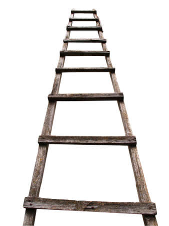 Ladder made of wood, perspective