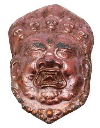 pohanský: Kovový tvář pohanského boha Reklamní fotografie