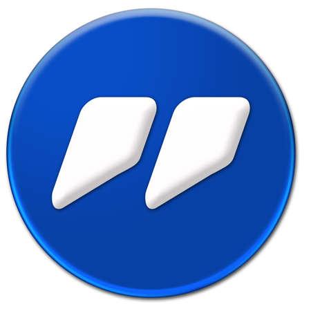 bn: Un blanco s�mbolo de cotizaci�n marca BN Jinx tipo de letra en un bot�n cristalino azul aislado sobre fondo blanco Foto de archivo