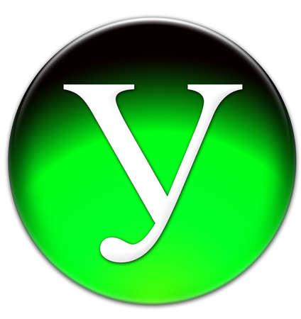 """times new roman: La letra """"U"""" en Times New Roman rusas tipo de letra en un bot�n verde cristalino aislado en fondo blanco Foto de archivo"""