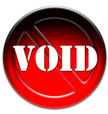 void: Void icon on a red glassy button isolated over white background Stock Photo