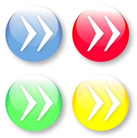 times new roman: Derecho franc�s cita marca s�mbolo Times New Roman azul cristalino, botones de color rojo, amarillo y verde sobre fondo blanco aisladas