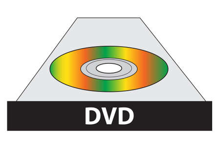 dvd player: dvd player illustration isolated over white background Illustration