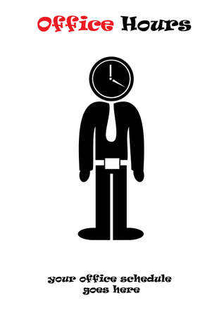 Office Hours vector illustration isolated over white background