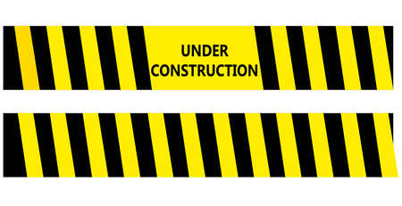 Under construction black and yellow warning tape