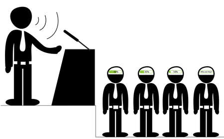orator: Orator speaking to the audience conceptual illustration