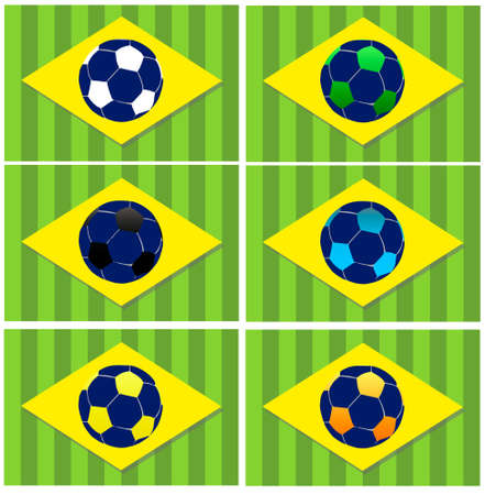 Brazil Soccer (Football) World Championship 2014 vector icons set Vector