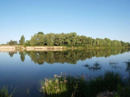 river banks: Desna river banks in Ukraine. Spectacular nature background